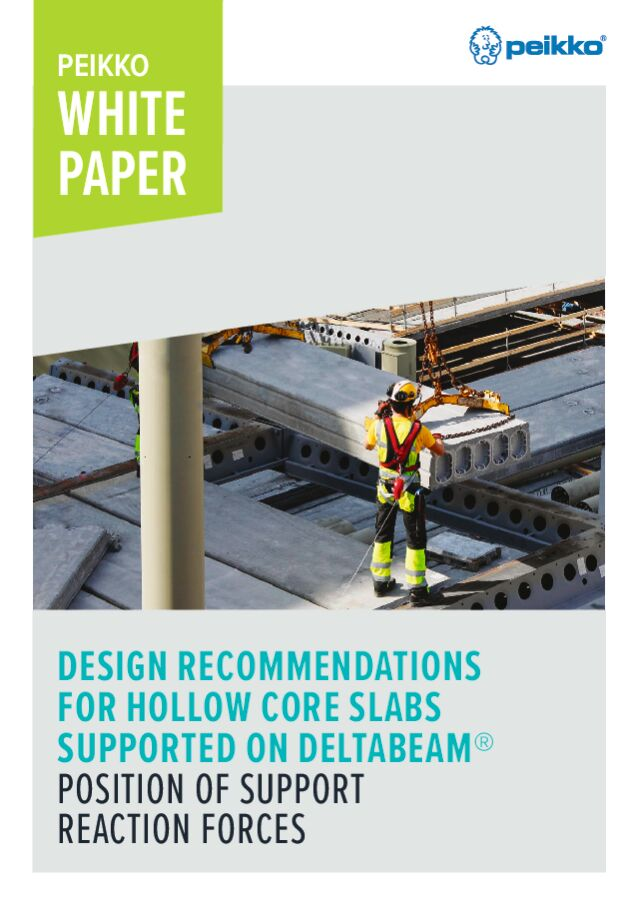 Design Recommendations for Hollow Core Slabs Supported on DELTABEAM<sup>®</sup> – Position of Support Reaction Forces