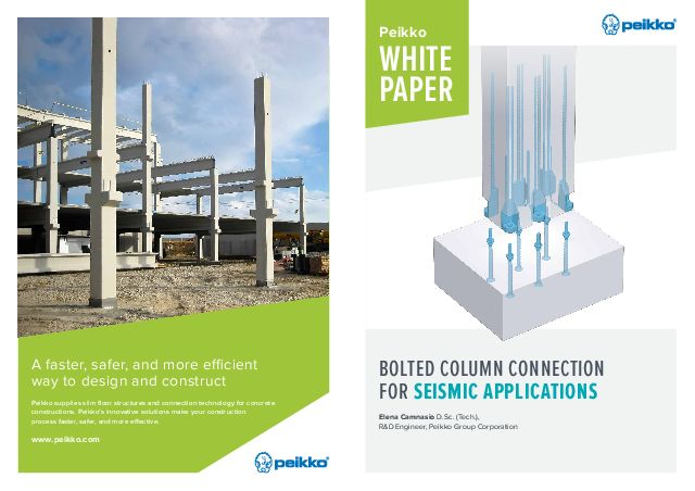 Bolted Column Connection for Seismic Applications