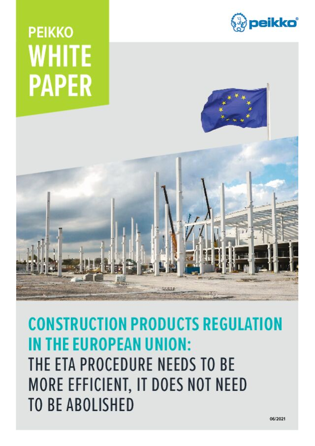 Construction Product Regulation in the European Union: The ETA Procedure needs to be more efficient, it does not need to be abolished
