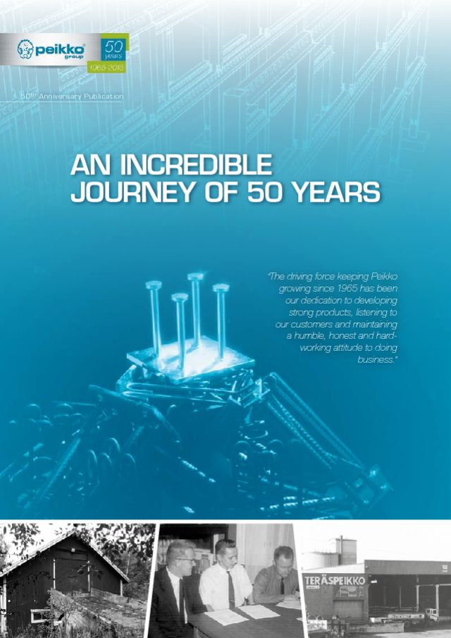Peikko's 50th Anniversary Publication