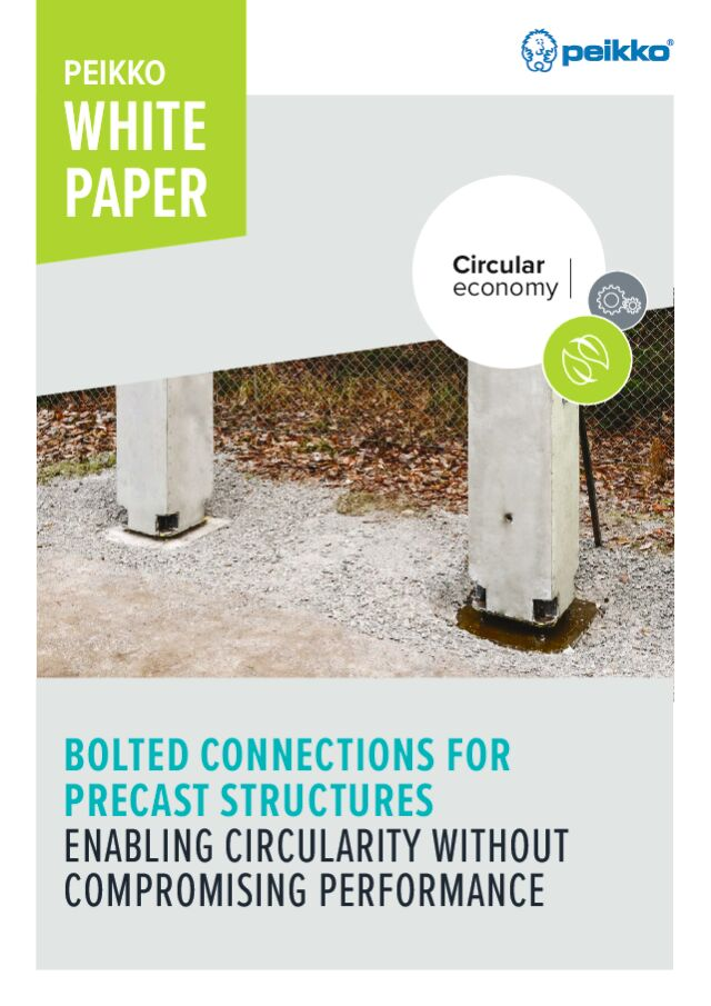 Bolted connections for precast structures – enabling circularity without compromising performance