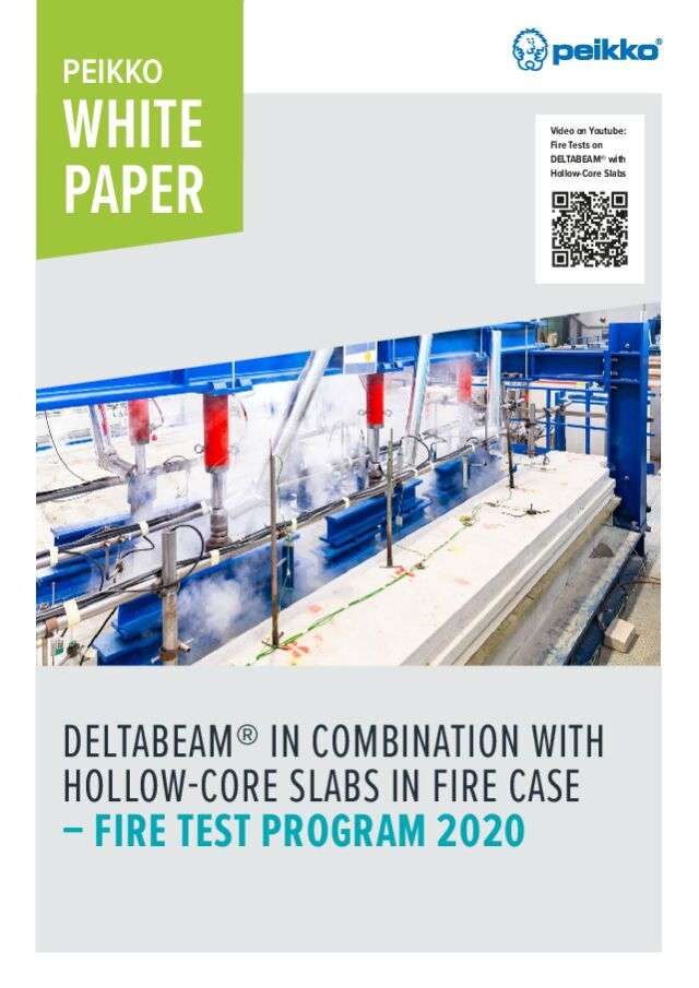 DELTABEAM<sup>®</sup> in combination with hollow-core slabs in fire case - Fire test program 2020