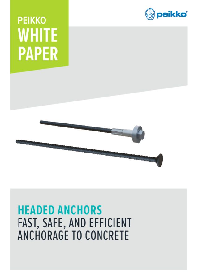 Headed Anchors - fast, safe, and efficient anchorage to concrete