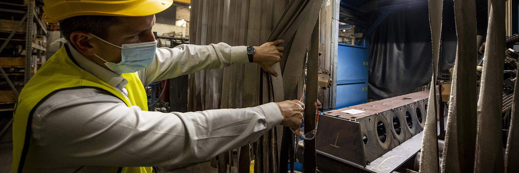 Ján Bujňák introduced DELTABEAM<sup>®</sup> production line in Peikko Slovakia's factory