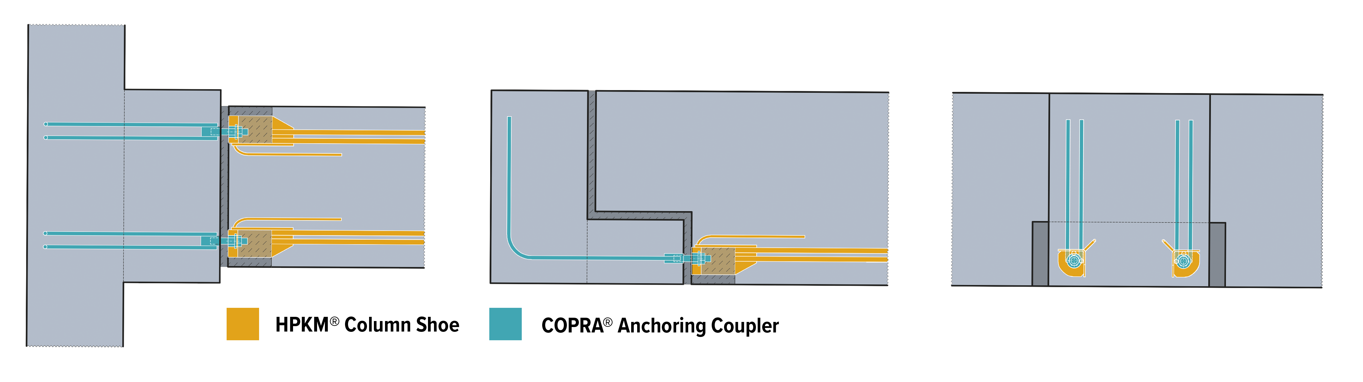 An example of moment resisting connection between primary and secondary beams designed for OMNITURM.