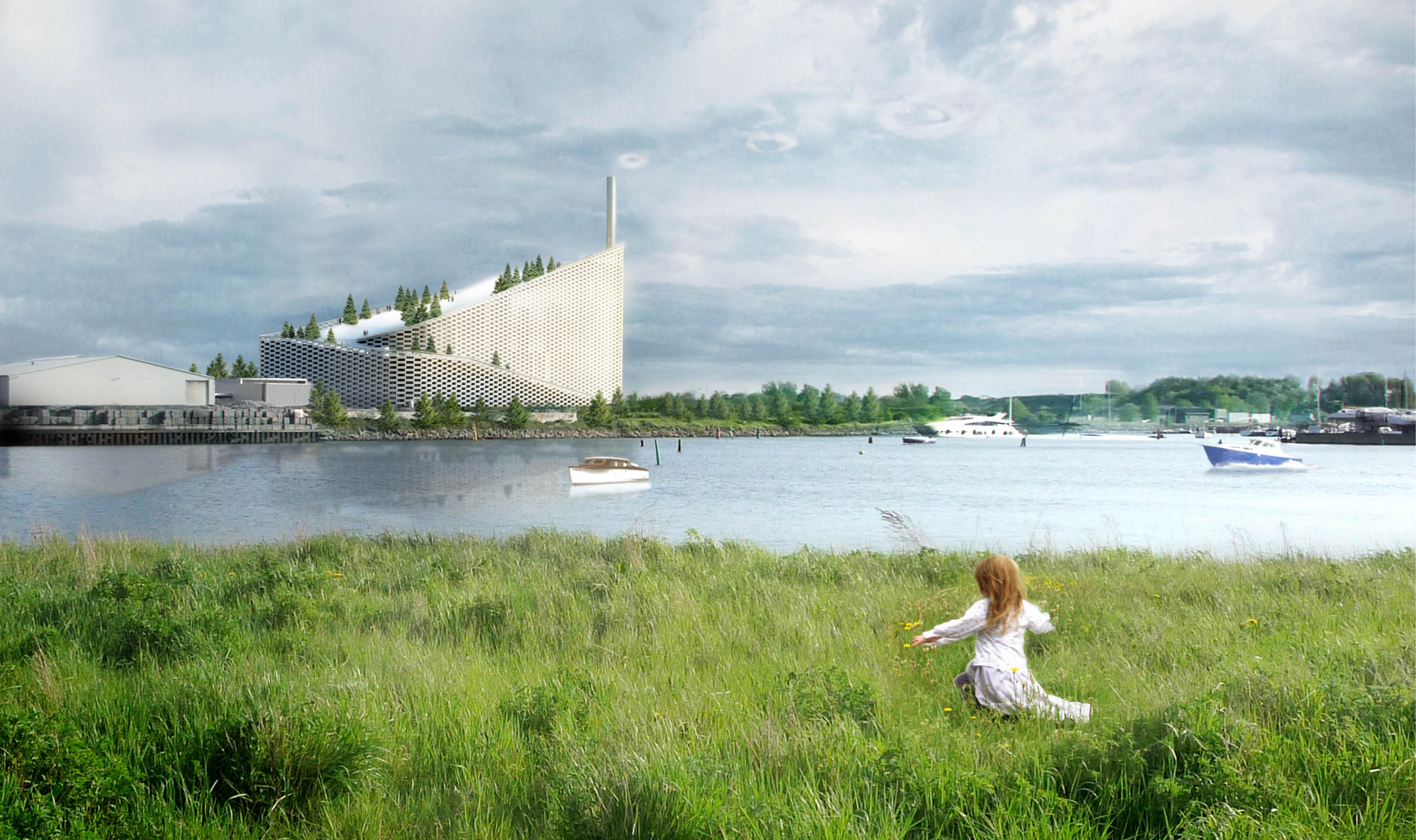 Das Amager Resource Center setzt neue Maßstäbe für Kraftwerke der Zukunft. Visualisierung: BIG Architects